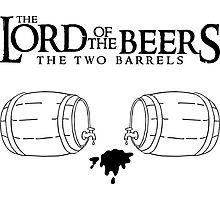 Lord of the Beers - The Two Barrels Photographic Print