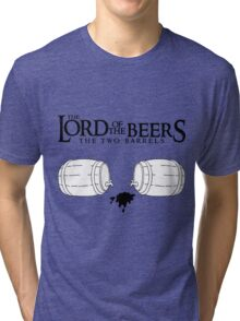 Lord of the Beers - The Two Barrels Tri-blend T-Shirt