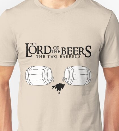 Lord of the Beers - The Two Barrels Unisex T-Shirt