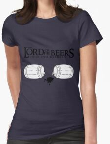 Lord of the Beers - The Two Barrels Womens Fitted T-Shirt