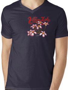 Frangipani Blossoms Mens V-Neck T-Shirt