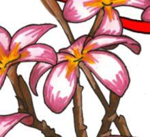 Frangipani Blossoms Sticker