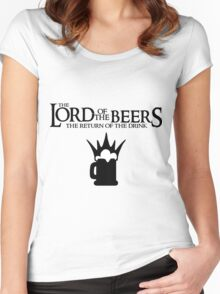 Lord of the Beers - Return of the Drink Women's Fitted Scoop T-Shirt