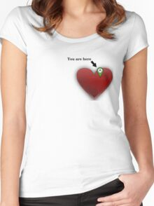 HEART GPS Women's Fitted Scoop T-Shirt