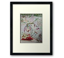 Zombie Eeyhore Framed Print