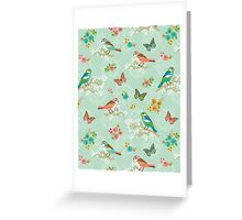 Birds on the Wall pattern Greeting Card