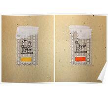 CRANEO & CRANEO 1/2  810 & 811 (skull & half skull  810 & 811) Poster
