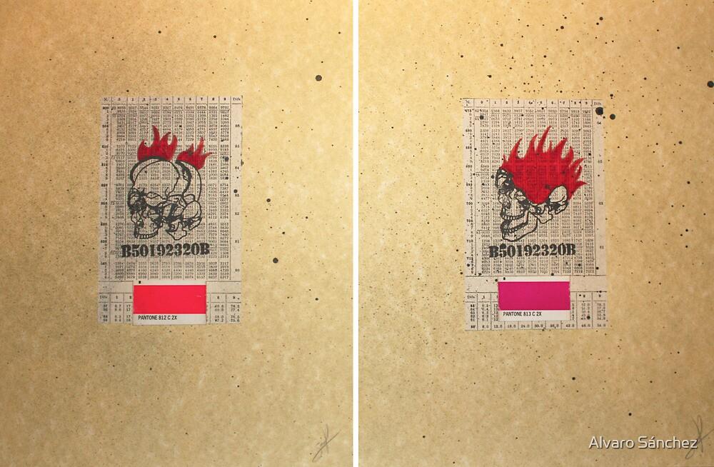 CRANEO & LLAMAS 812 & 813 (skull & flames 812 & 813) by Alvaro Sánchez