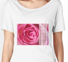 Pink rose flower petals calendar 2016 Women's Relaxed Fit T-Shirt