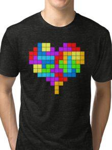 I Love Colourful Blocks Tri-blend T-Shirt