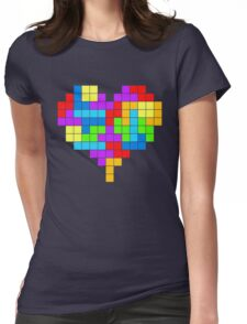 I Love Colourful Blocks Womens Fitted T-Shirt
