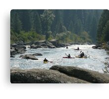 Kayakers waiting for their set Canvas Print
