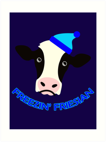 Freezin' Friesian by Barton Keyes