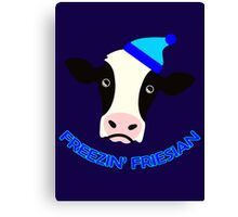 Freezin' Friesian Canvas Print
