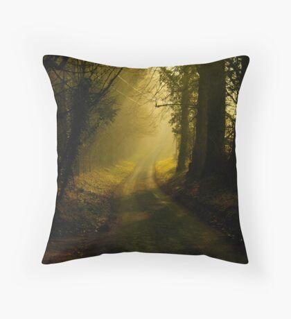 Fox & Pin Lane,Spring,Bury St Edmunds Throw Pillow