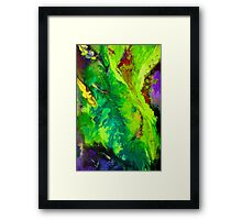 Contemporary abstract modern painting Framed Print