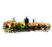 Prague panorame Photographic Print