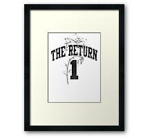 Derrick Rose -- The Return! Framed Print