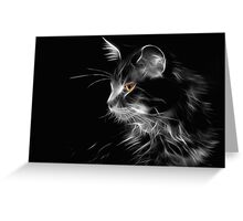 Cat By Night Greeting Card