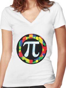 Pi Day Symbol 1 Women's Fitted V-Neck T-Shirt