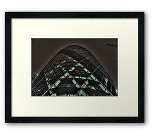 HDR Gherkin By Night. Framed Print
