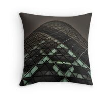 HDR Gherkin By Night. Throw Pillow