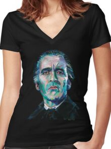 The Count - Christopher Lee Women's Fitted V-Neck T-Shirt
