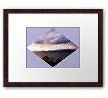 atmospheric dawn on canvas Framed Print