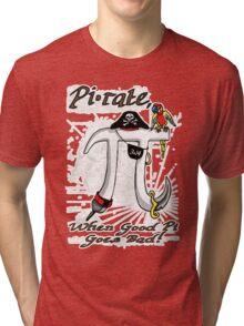 Pi Day Pirate Gone Bad Tri-blend T-Shirt