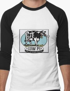 Funny Pi Day Cow Pi Men's Baseball ¾ T-Shirt