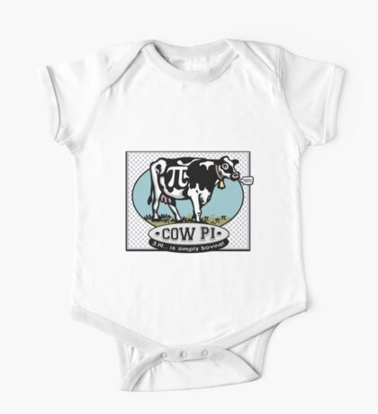 Funny Pi Day Cow Pi One Piece - Short Sleeve
