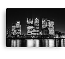 London City Skyline - Monochrome Canvas Print