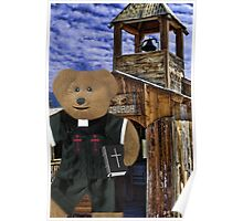 •*´¯`♥ღ PASTOR BEARY WELCOMING CHRISTINE BEAR TO CHURCH (SEE LINK IN DISCRIPTION) •*´¯`♥ღ Poster