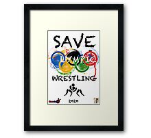 SAVE OLYMPIC WRESTLING!!! Framed Print