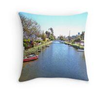Canal - Venice CA Throw Pillow