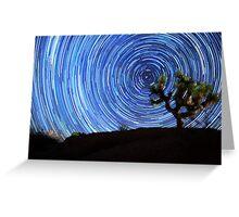 Stunning Circular Star Trails Above Joshua Tree Desert Greeting Card