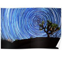 Stunning Circular Star Trails Above Joshua Tree Desert Poster