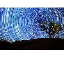 Stunning Circular Star Trails Above Joshua Tree Desert Photographic Print