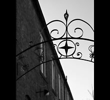 Vintage Wrought Iron Gate Detail - Riverhead, New York  by © Sophie W. Smith