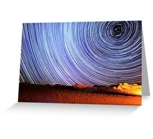 Incredible Galaxy Star Trails Over Death Valley Greeting Card