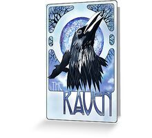 Raven and Moon Greeting Card