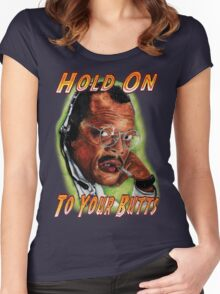 Hold on to Your Butts! Women's Fitted Scoop T-Shirt