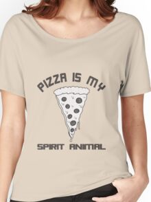 Pizza Is My Spirit Animal funny nerd geek geeky Women's Relaxed Fit T-Shirt
