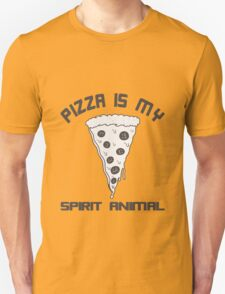 Pizza Is My Spirit Animal funny nerd geek geeky T-Shirt