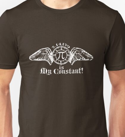 Pi is My Constant White Unisex T-Shirt
