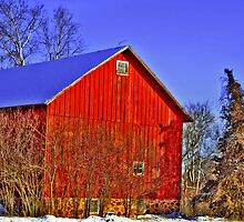 Barn in February by EBArt