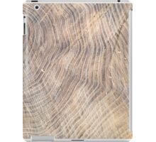 Top view of the surface of the fresh stump with annual rings iPad Case/Skin