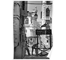 Gondoliers in Venice Poster