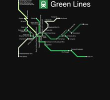 Green Lines (white) Unisex T-Shirt