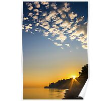 Sunrise Over The Bluffs Poster